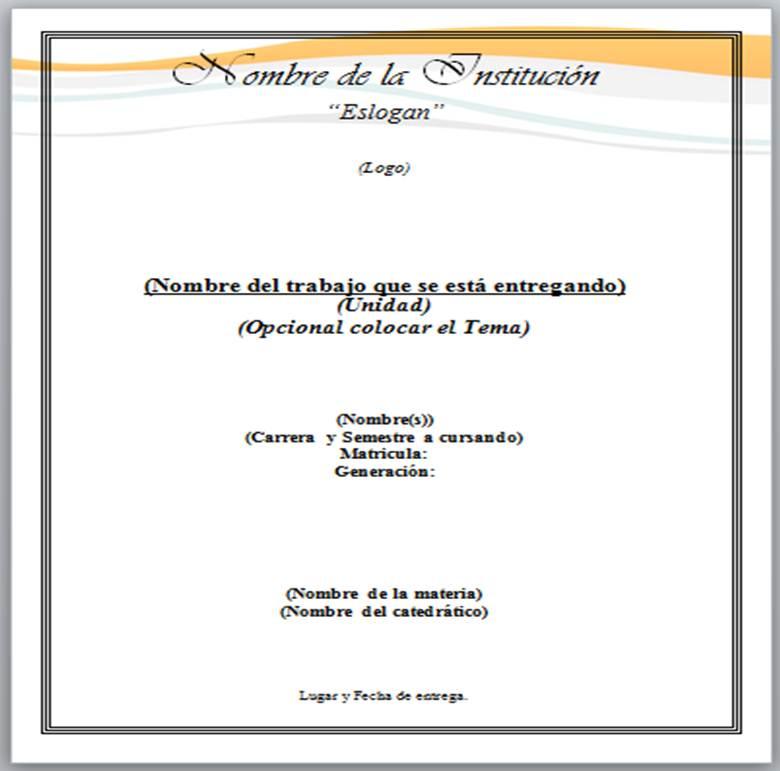Formato De Hoja De Presentacion Yo Soy Roiver Bienvenido A Mi Blog