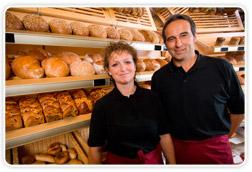 Trabajadores pan